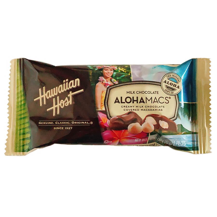 (ハワイアンホースト) アロハマックス・ミルクチョコレート・マカダミアナッツ 24g