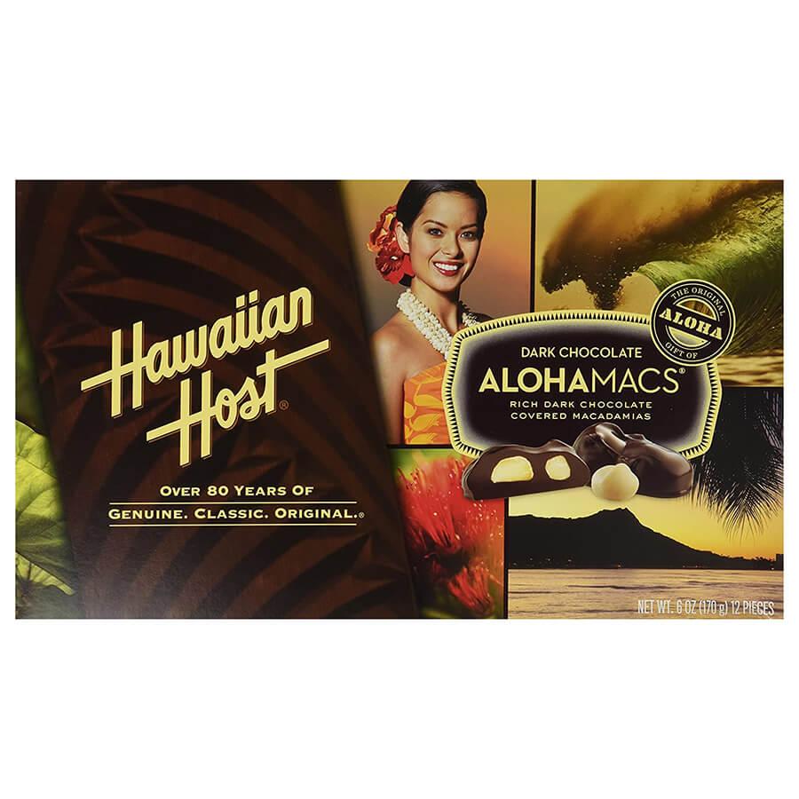 (ハワイアンホースト) アロハマックス・ダークチョコレート・マカダミアナッツ 170g