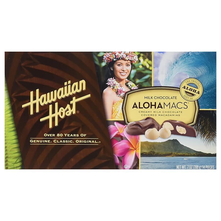 (ハワイアンホースト) アロハマックス・ミルクチョコレート・マカダミアナッツ 198g