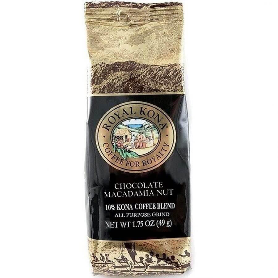 (ロイヤルコナコーヒー) シングルポット・チョコレートマカダミアナッツ・10%コナコーヒーブレンド 49g