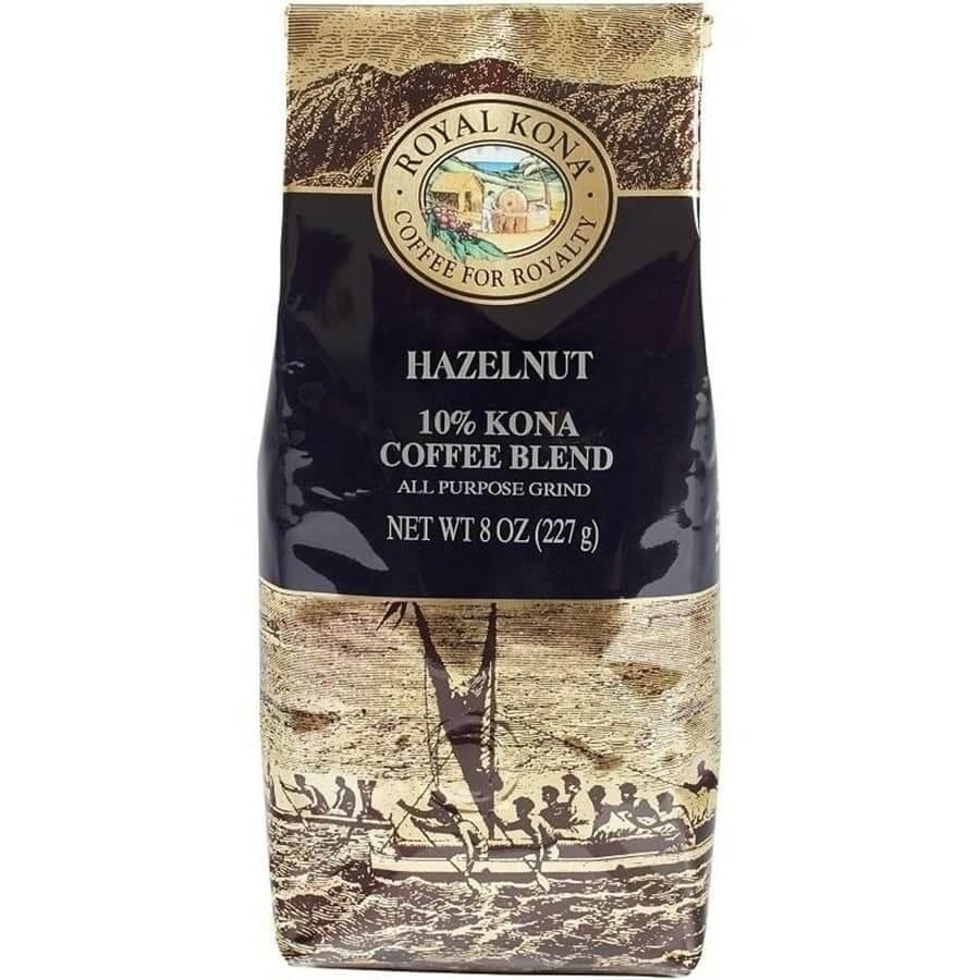(ロイヤルコナコーヒー) ヘーゼルナッツ・10%コナコーヒーブレンド 227g
