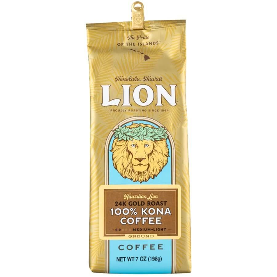 (ライオンコーヒー) 100%コナコーヒー・24K・ゴールドロースト 198g
