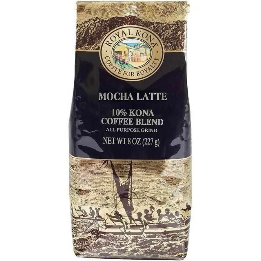 (ロイヤルコナコーヒー) モカラテ・10%コナコーヒーブレンド 227g