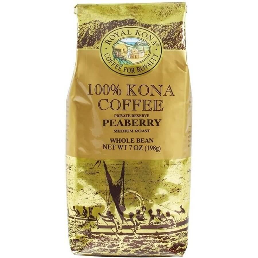 (ロイヤルコナコーヒー) 100%コナコーヒー・ピーベリー・プライベートリザーブ 198g