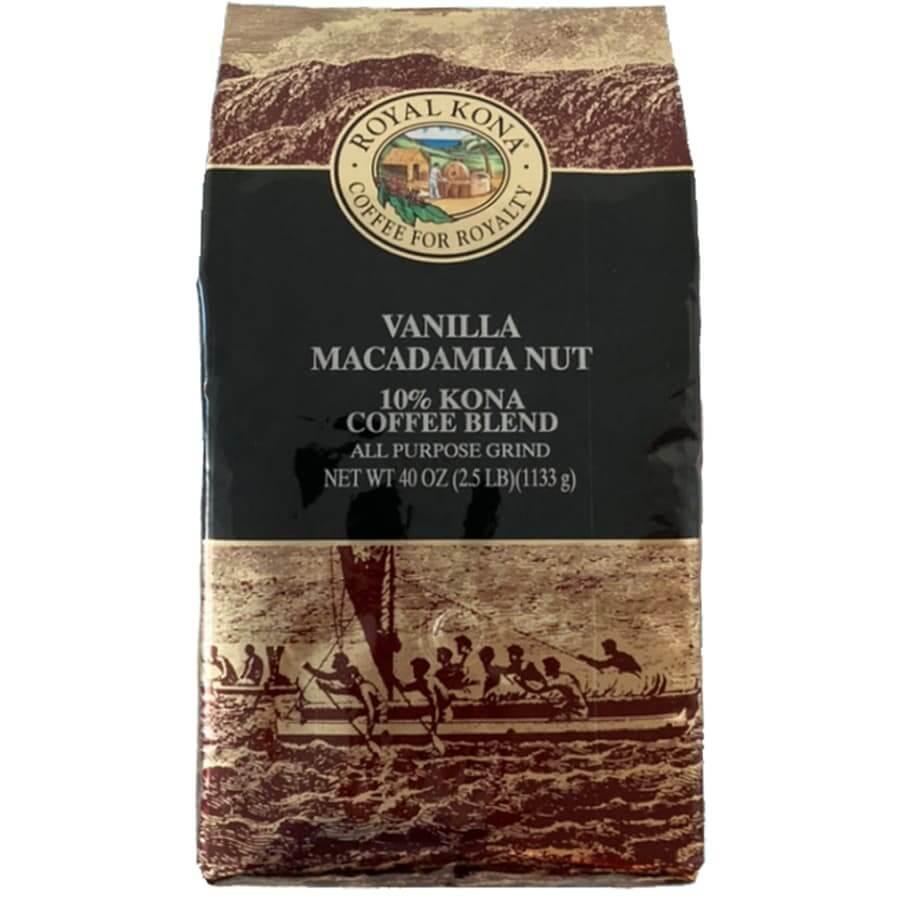 (ロイヤルコナコーヒー) バニラマカダミアナッツ・10%コナコーヒーブレンド 1133g