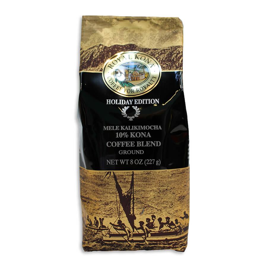 (ロイヤルコナコーヒー) ホリデーエディション・メレカリキモカ・10%コナコーヒーブレンド 227g