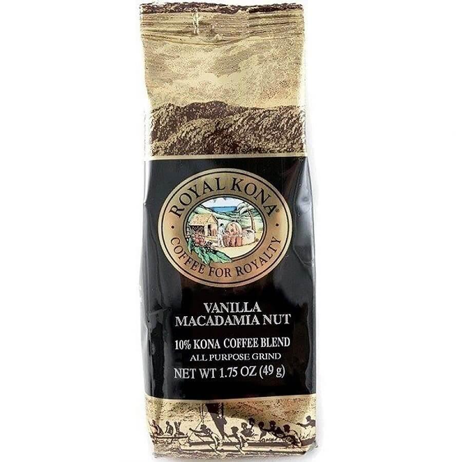 (ロイヤルコナコーヒー) シングルポット・バニラマカダミアナッツ・10%コナコーヒーブレンド 49g
