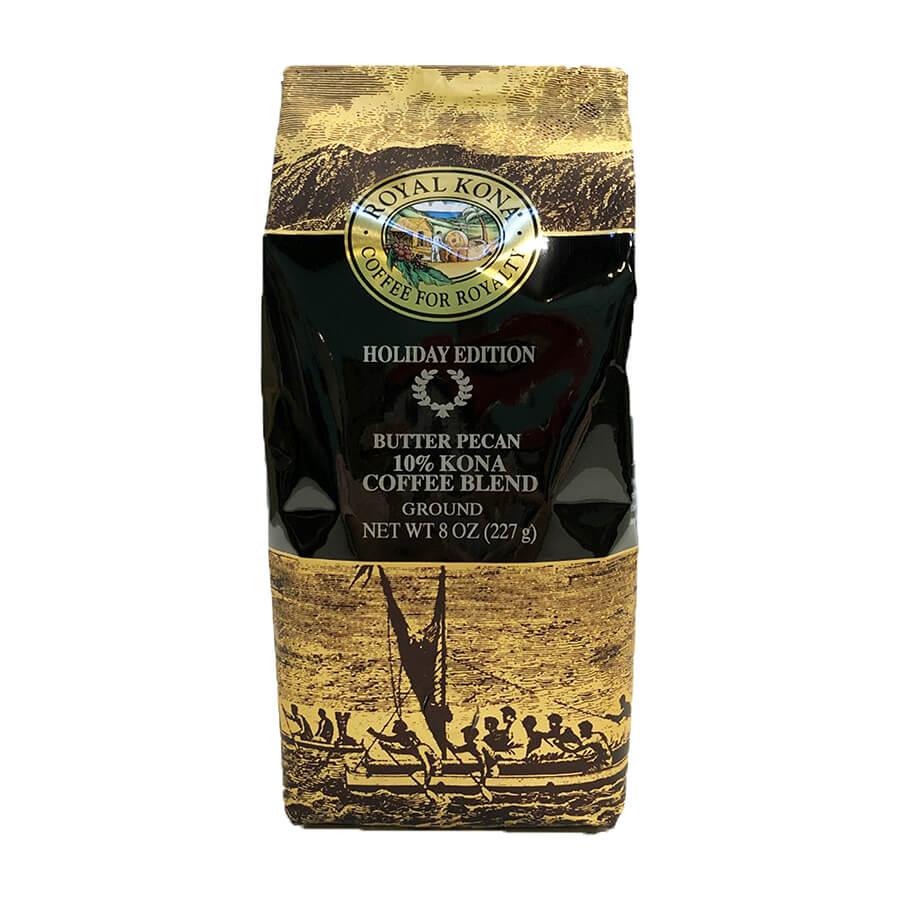 (ロイヤルコナコーヒー) ホリデーエディション・バターピーカン・10%コナコーヒーブレンド 227g